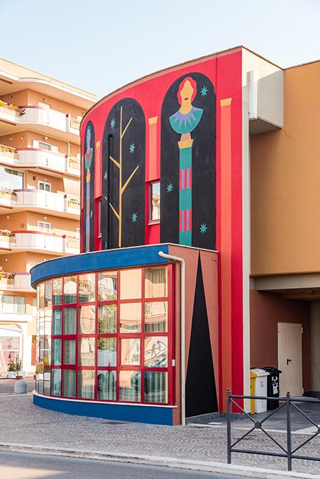 Agostino Iacurci, L'antiporta, 2021, Credits: Andrea Pizzalis, Courtesy Fondazione Pastificio Cerere