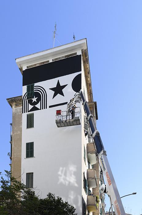 Marimo   brandlife designer, La Costituzione Più Bella del Mondo, 2021, quartiere Garbatella, Roma. Crediti: Giorgio Benni