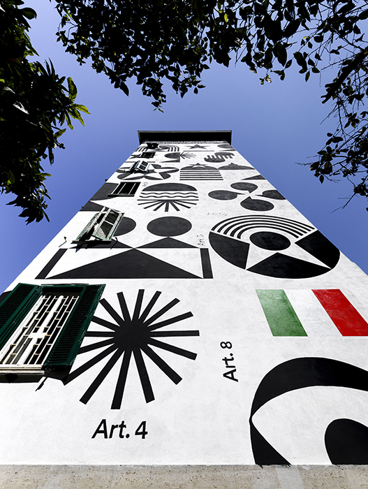 Marimo | brandlife designer, La Costituzione Più Bella del Mondo, 2021, quartiere Garbatella, Roma. Crediti: Giorgio Benni