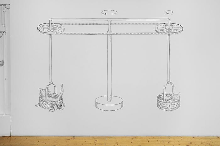 Antonio Della Guardia, Per un Prossimo Reale, installation view, 2021. Fondazione Pastificio Cerere. Crediti Roberto Apa